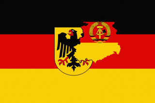 German Flag With Eagle Emblem - Obrázkek zdarma