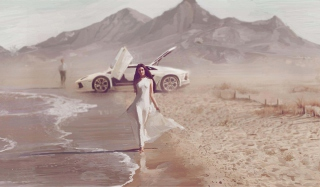 Porsche Girl Picture for Android, iPhone and iPad