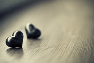 Two Black Hearts Picture for Android, iPhone and iPad