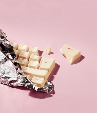 White Chocolate Keyboard - Obrázkek zdarma pro Nokia C6-01
