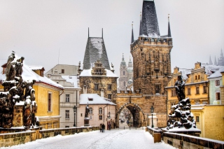 Winter In Prague Wallpaper for Android, iPhone and iPad