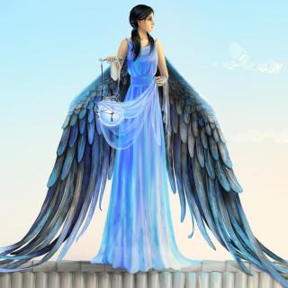 Angel with Wings - Obrázkek zdarma pro 320x320