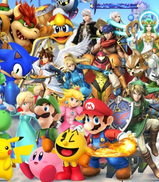Super Smash Bros - Obrázkek zdarma pro 320x480