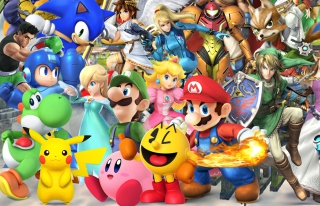 Super Smash Bros - Obrázkek zdarma pro Samsung Galaxy Ace 4