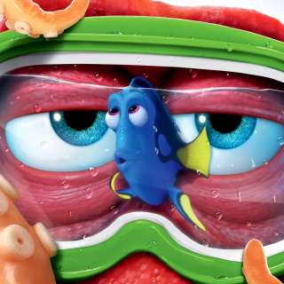 Finding Dory 3D Film and Nemo Fish - Obrázkek zdarma pro iPad Air