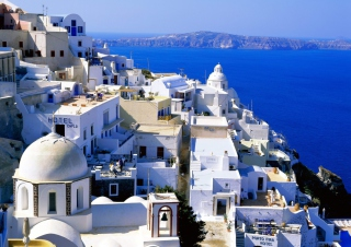 Fira Santorini Greece Wallpaper for Android, iPhone and iPad