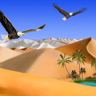 Desert Landscape - Obrázkek zdarma pro iPad Air