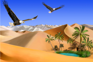 Desert Landscape Picture for Android, iPhone and iPad