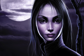 Moonlight Girl Picture for Android, iPhone and iPad