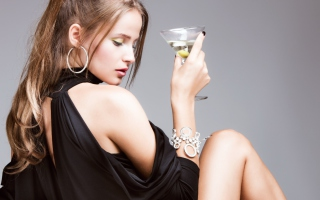 Martini Girl Picture for Android, iPhone and iPad