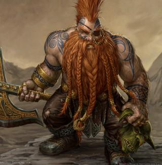 Dwarf Slayer - Obrázkek zdarma pro iPad 3