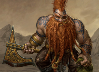 Dwarf Slayer - Obrázkek zdarma pro HTC Desire