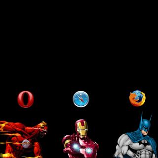 Browsers Chrome, Opera, Firefox, Safari - Obrázkek zdarma pro 208x208