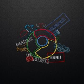 Chrome and Social Networks - Obrázkek zdarma pro iPad 2