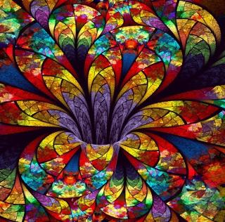Fractal Flower - Obrázkek zdarma pro iPad 3