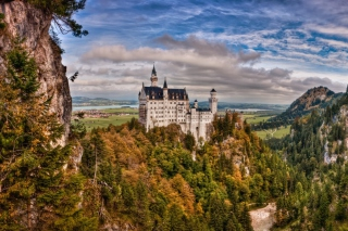 Bavaria Neuschwanstein Castle Background for Android, iPhone and iPad
