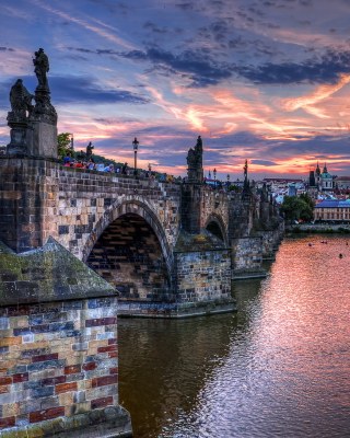 Charles Bridge in Prague - Obrázkek zdarma pro 240x432