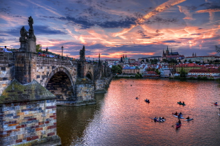 Charles Bridge in Prague Picture for Android, iPhone and iPad