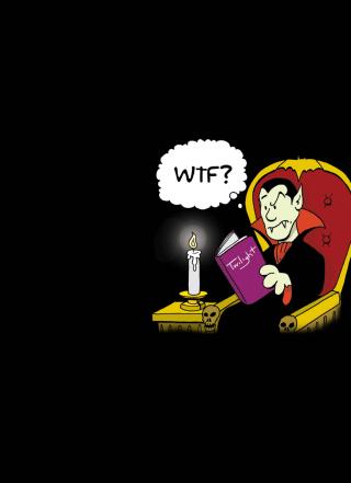 Dracula Reading Twilight - Obrázkek zdarma pro Nokia Asha 308
