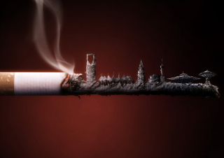 Free Smoked Cigarette Picture for Android, iPhone and iPad