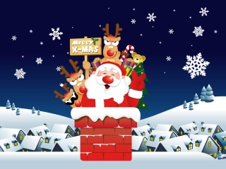 Funny Santa Wallpaper for Android, iPhone and iPad