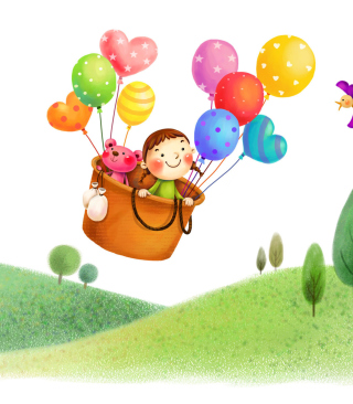 Colorful Balloons Sky Trip - Obrázkek zdarma pro Nokia Asha 300