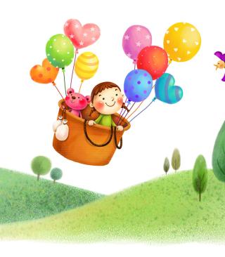 Colorful Balloons Sky Trip - Obrázkek zdarma pro Nokia C3-01 Gold Edition