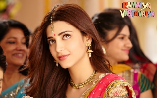 Shruti Haasan Ramaiya Vastavaiya Background for Android, iPhone and iPad