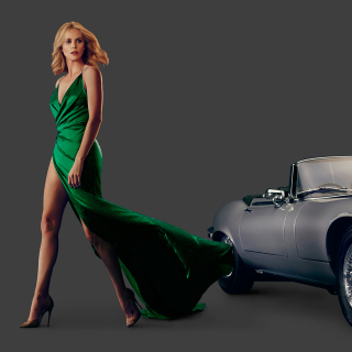 Charlize Theron in Car Advertising - Obrázkek zdarma pro iPad 3