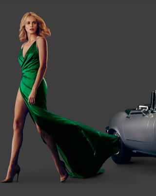 Charlize Theron in Car Advertising - Obrázkek zdarma pro iPhone 6 Plus