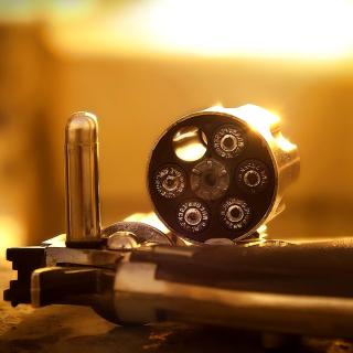 Revolver with Handgun Cartridges - Obrázkek zdarma pro 2048x2048