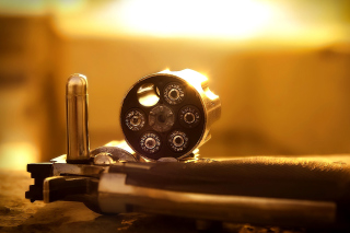 Revolver with Handgun Cartridges - Obrázkek zdarma pro 720x320