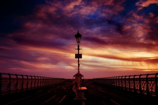Pier Into The Dawn Background for Android, iPhone and iPad