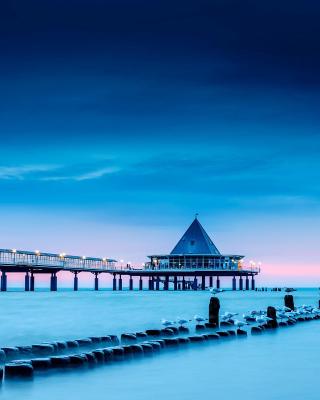 Blue Sea Pier Bridge - Obrázkek zdarma pro Nokia Asha 309