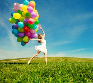 Balloon Girl - Obrázkek zdarma pro iPad Air