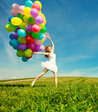 Balloon Girl - Obrázkek zdarma pro Nokia X1-00