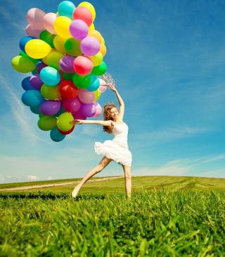 Balloon Girl - Obrázkek zdarma pro Nokia C3-01 Gold Edition