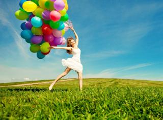 Balloon Girl - Obrázkek zdarma pro Fullscreen Desktop 1024x768