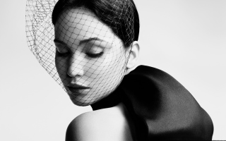 Jennifer Lawrence 2013 Black And White Wallpaper for Android, iPhone and iPad