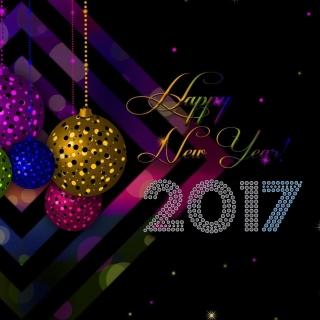 2017 Happy New Year Card - Obrázkek zdarma pro 2048x2048