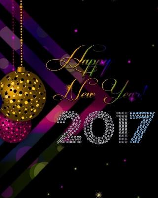 2017 Happy New Year Card - Obrázkek zdarma pro iPhone 5