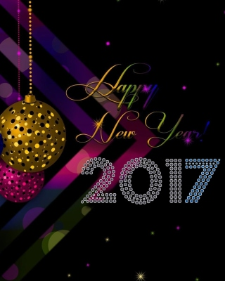 2017 Happy New Year Card - Obrázkek zdarma pro Nokia C2-03