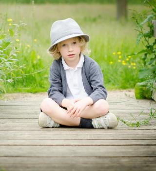 Cute Blonde Boy - Obrázkek zdarma pro 320x320
