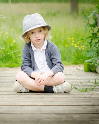 Cute Blonde Boy - Obrázkek zdarma pro 480x640