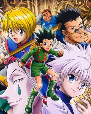 Hunter x Hunter with Gon Freecss, Killua Zoldyck, Kurapika - Obrázkek zdarma pro iPhone 4
