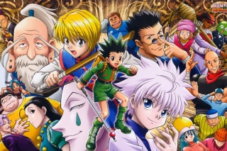 Hunter x Hunter with Gon Freecss, Killua Zoldyck, Kurapika - Obrázkek zdarma pro HTC Hero