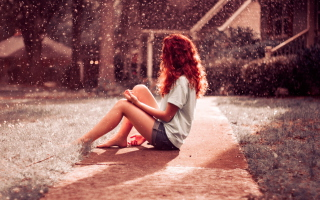 Heavy Rain Background for Android, iPhone and iPad