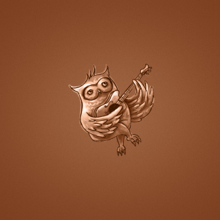 Funny Owl Playing Guitar Illustration - Obrázkek zdarma pro iPad Air