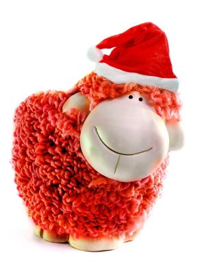 Sheep New Year 2015 Symbol - Obrázkek zdarma pro iPhone 4
