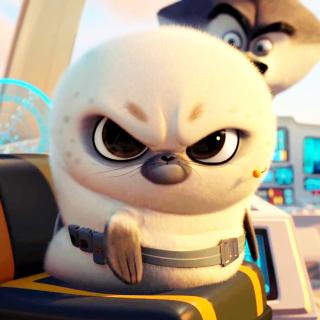 Penguins Of Madagascar Angry Seal - Obrázkek zdarma pro iPad Air